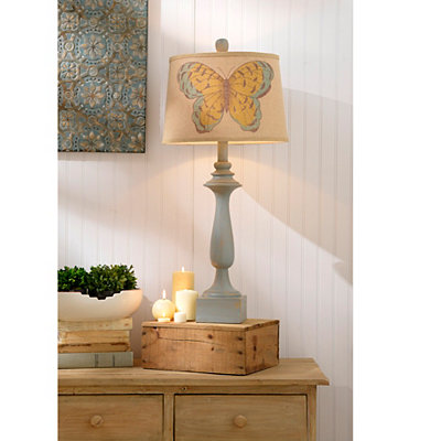 Vintage Butterfly Table Lamp