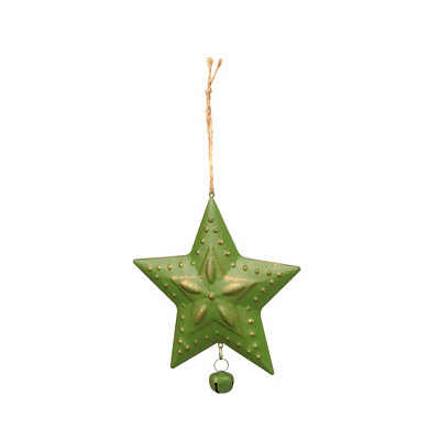 Green Metal Star Ornament