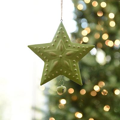 Green Metal Star Ornament