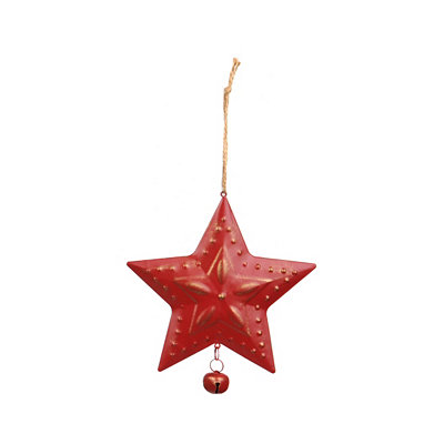 Red Metal Star Ornament