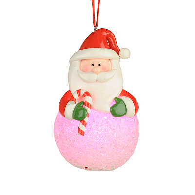 LED Santa Ornament