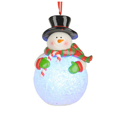 LED Snowman Ornament