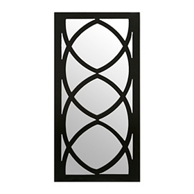 McKenzie Black Decorative Mirror, 12x24
