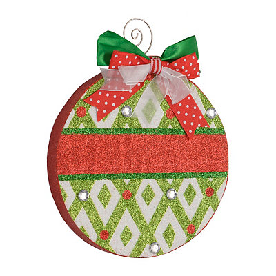 Holly Jolly Diamond Ornament