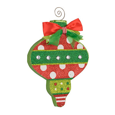 Holly Jolly Polka Dot Ornament