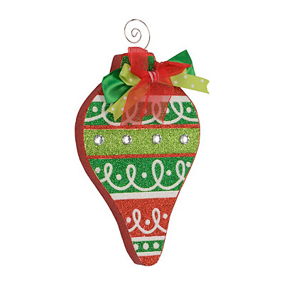 Holly Jolly Swirl Ornament