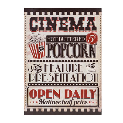 Vintage Cinema Metal Sign