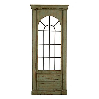 Sue Sea Green Window Pane Wooden Panel