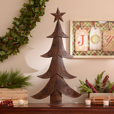 Large Rustic Metal Tree