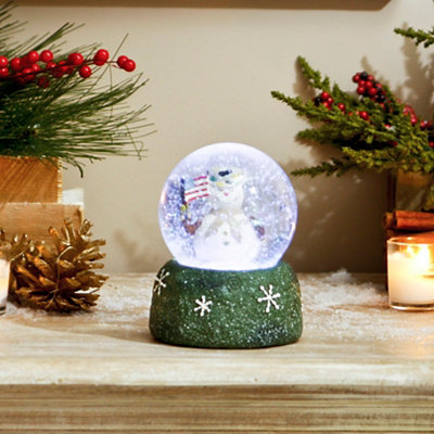 Military Snowman Snow Globe
