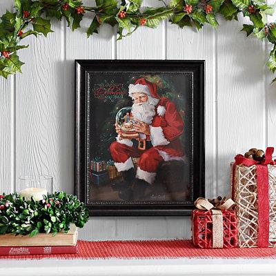 Santa's Snow Globe Framed Art Print