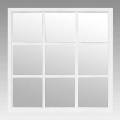 White Window Pane Decorative Mirror, 20x20