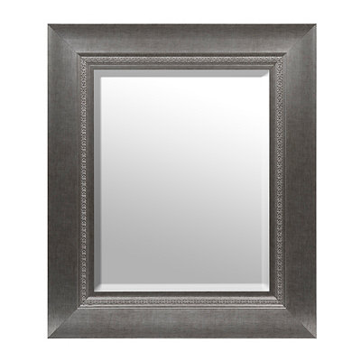 Antique Silver Nested Framed Mirror, 33x39