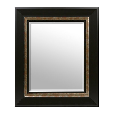 Smokey Espresso Framed Mirror, 33x39