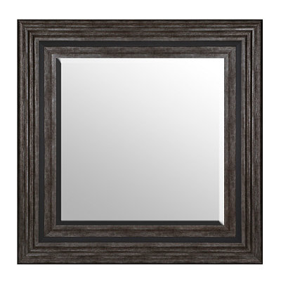 Burnished Silver Framed Mirror, 36x36