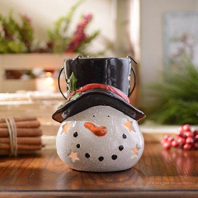 Ceramic Snowman Lantern