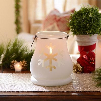White Snowflake Candle Lantern