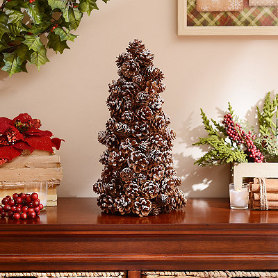 Snowy Pinecone Tree, 18 in.