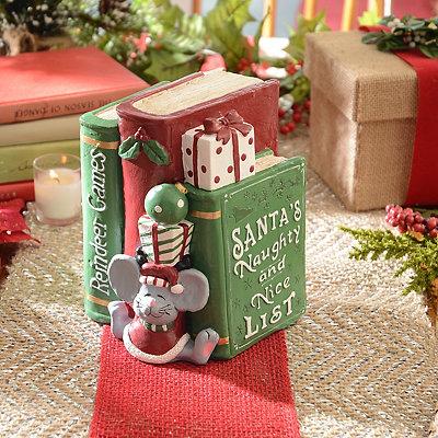 Christmas Books Statue