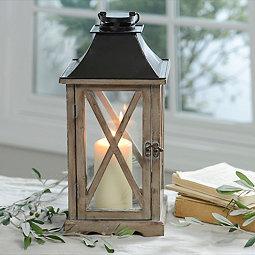Natural Wood Lantern