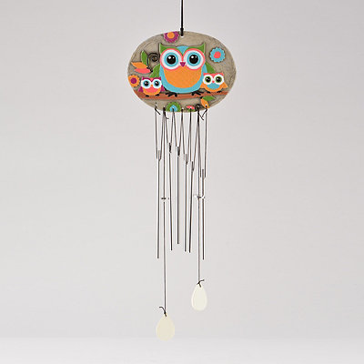 Colorful Owls Wind Chime