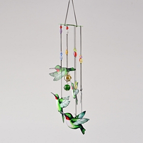Hand-painted Hummingbird Wind Chime