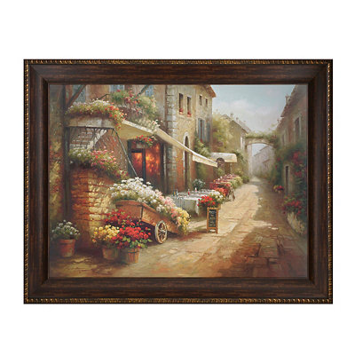 Zera's Flower Cafe Framed Art Print