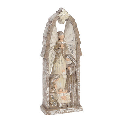 Metallic Holy Nativity Statue