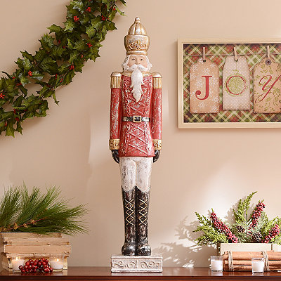 Classic Red Nutcracker Statue