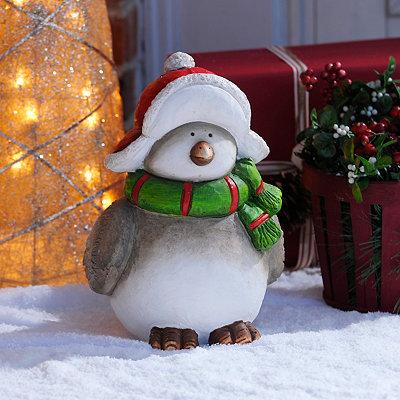 Winter Bird Statue