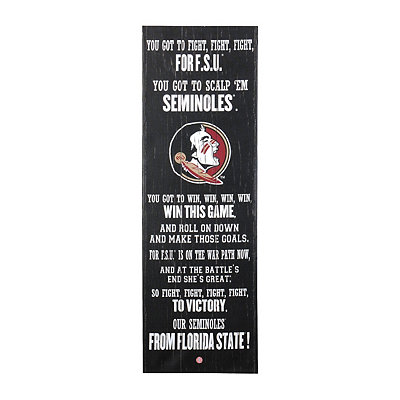 Florida State Seminoles Fight Song Canvas Plaque