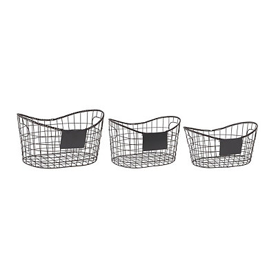 Nested Baskets with Chalkboard Labels, Set of 3