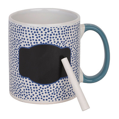 Blue Farmhouse Chalkboard Mug