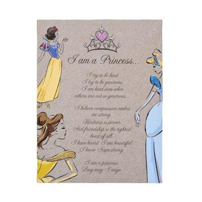 I Am A Disney Princess Glitter Canvas Art Print