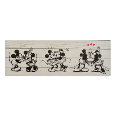 Mickey & Minnie Canvas Art Print