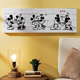 Mickey & Minnie Canvas Art Print
