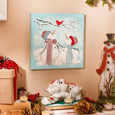 Nature's Snowman Canvas Art Print