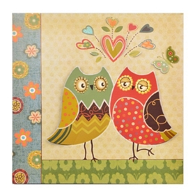 Owls in Love Wall Plaque
