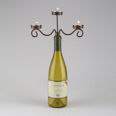 Wine Bottle Stopper Tealight Candelabra