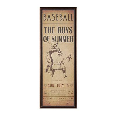 Boys of Summer Framed Canvas Plaque