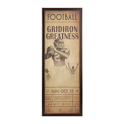 Gridiron Greatness Framed Canvas Plaque