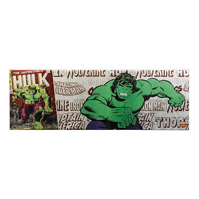 The Hulk Metallic Canvas Art Print