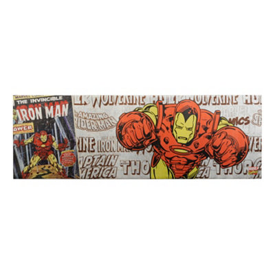 Iron Man Metallic Canvas Art Print