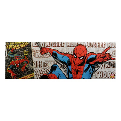 Spider-Man Metallic Canvas Art Print
