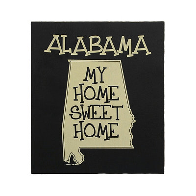 Alabama Home Sweet Home Plaque