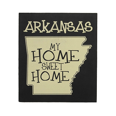 Arkansas Home Sweet Home Plaque