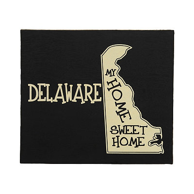 Delaware Home Sweet Home Plaque