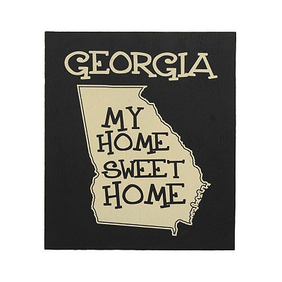 Georgia Home Sweet Home Plaque