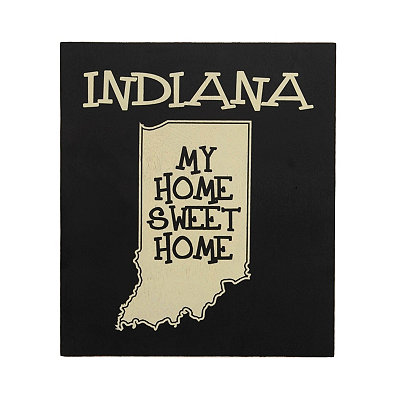 Indiana Home Sweet Home Plaque