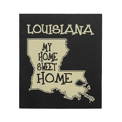 Louisiana Home Sweet Home Plaque
